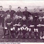 Newnham Football Team - 23rd March 1905 (Nick Marshall, back row, right)